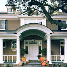 Eclectic Exterior by Tommy Chambers Interiors, Inc.