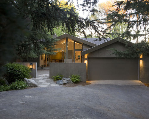 Gray Stucco Exterior Home Ideas Amp Design Photos Houzz