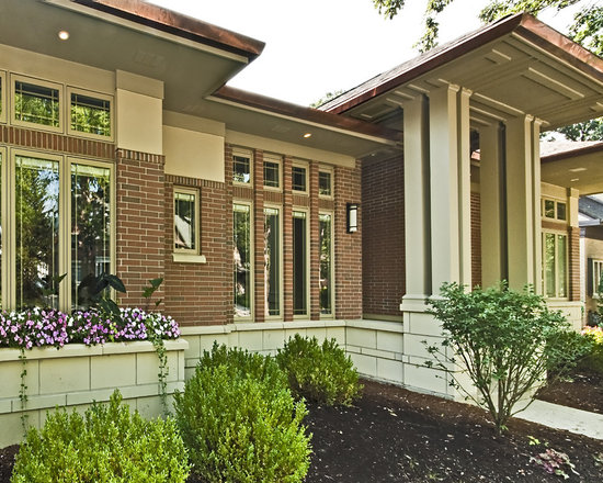 Stucco And Brick Exterior red brick and stucco house | houzz