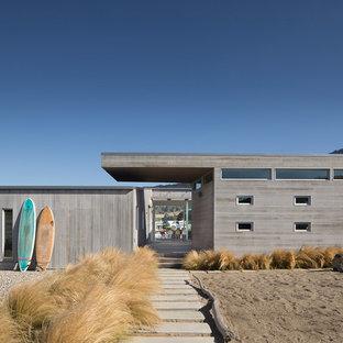 Beach style wood exterior home idea in San Francisco