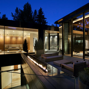 Inspiration for a modern exterior home remodel in Denver