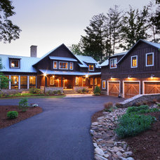 Rustic Exterior by Timberlake Custom Homes, LLC