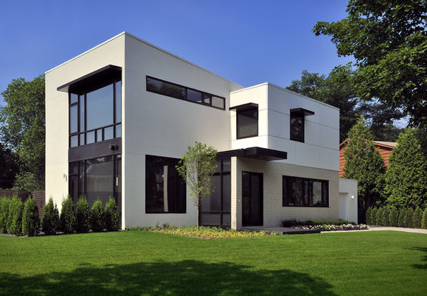 Modern Exterior by Lake Country Builders