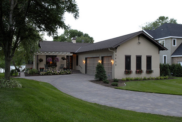 Transitional Exterior by Lake Country Builders