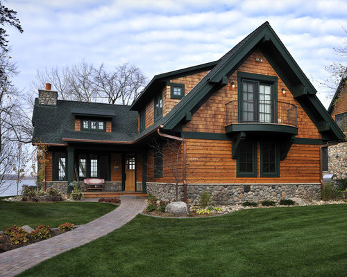 Hunter green trim home design ideas pictures remodel and for Log cabin window trim