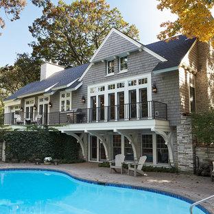Источник вдохновения для домашнего уюта: дом в викторианском стиле с облицовкой из камня