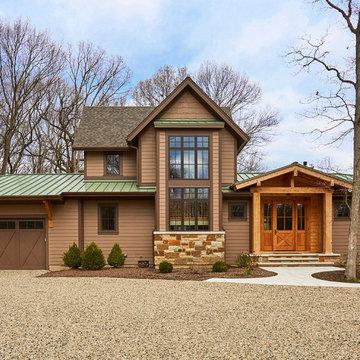 Lake Forest Custom Home Exterior