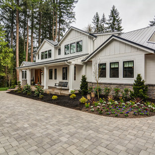 Transitional exterior home photo in Portland