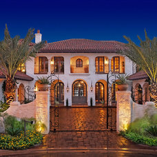 Mediterranean Exterior by Cornerstone Architects