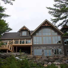 Rustic Exterior by RS Field Design Inc.