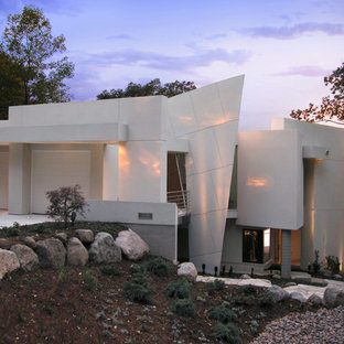 This is an example of a contemporary two floor exterior in Other.