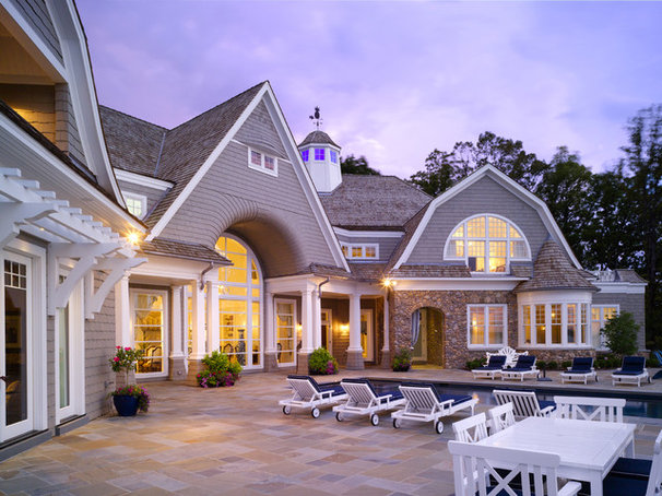 Traditional Exterior by Harrison Design