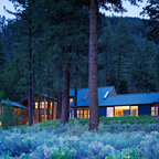 Modern Cabin Rustic Exterior Seattle By Johnston
