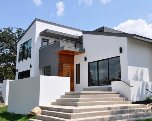 Grizzle gray houzz for Modern gray house exterior