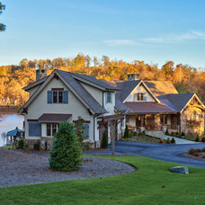 Rustic Exterior by Ridgeline Construction Group, Inc