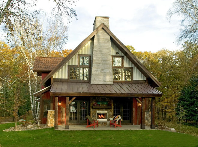 Rustic Exterior by Lands End Development - Designers & Builders