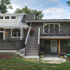 Transitional Exterior by HighCraft Builders
