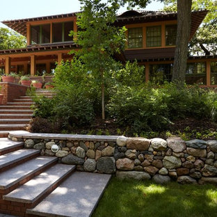 Arts and crafts two-story exterior home photo in Minneapolis