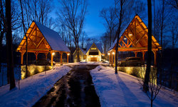Lakeside Timber Frame Home and Pavilions
