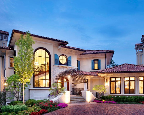 Best Mediterranean Exterior Home Design Ideas & Remodel Pictures
