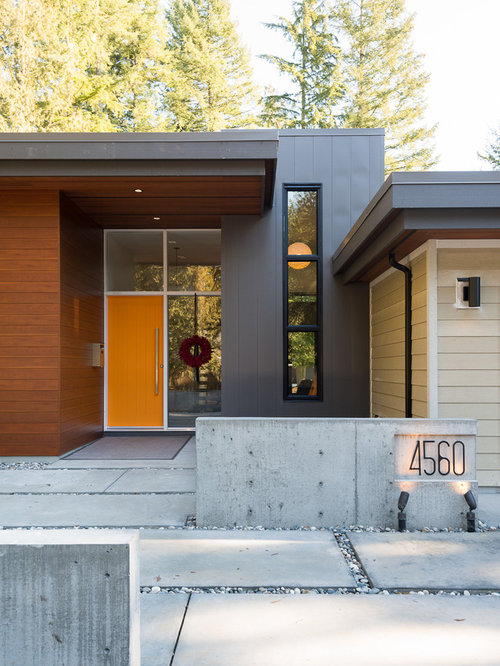 Inspiration For A Contemporary Wood Exterior Home Remodel In Vancouver