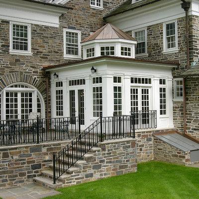 Traditional stone exterior home idea in Philadelphia