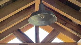 Large Galvanized Barn Light Shade on Pipe