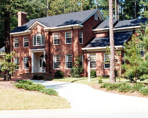 Brick exterior design ideas renovations photos for Davinci bellaforte shake reviews