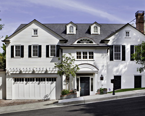 Portico over garage door home design ideas renovations for Garage portico