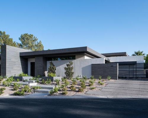 Case Moderne Ad Un Piano : Foto e idee per facciate di case facciata di una casa moderna