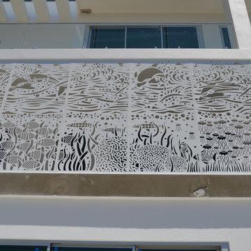 Laser cut beach house balustrade