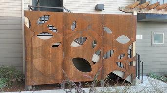 Laser cut corten panels