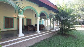Lawn and exterior facade