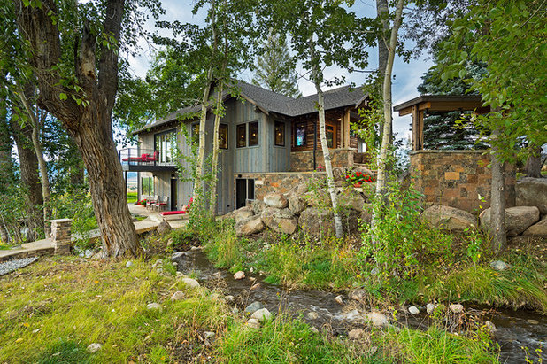 Rustic Exterior by Dovetail Construction