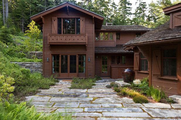 Rustic Exterior by Matthew Cunningham Landscape Design LLC