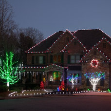 Traditional Exterior by Christmas Lights, Etc