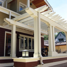 Traditional Exterior by Domain Architecture and Design