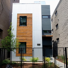 Contemporary Exterior by Modern Chicago Homes