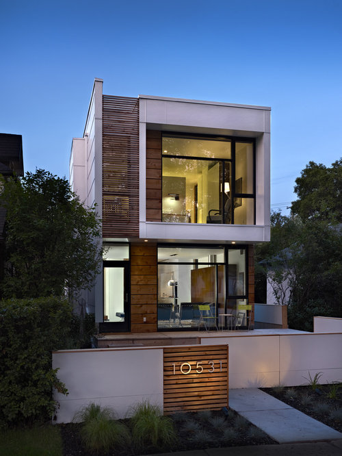 Modern house facades houzz for Modern home decor edmonton