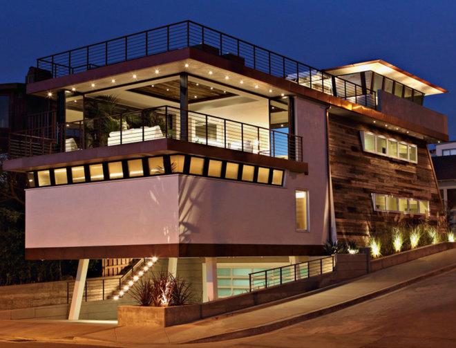 Contemporary Exterior by Lazar Design+Build