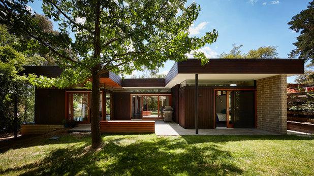 Midcentury Exterior by Steffen Welsch Architects