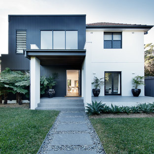 This is an example of a contemporary exterior in Sydney.
