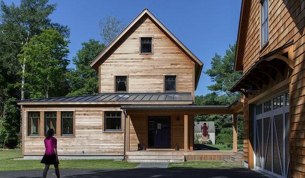 Farmhouse Exterior by ZeroEnergy Design
