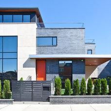 Contemporary Exterior by Joseph Trojanowski Architect PC
