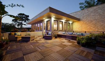 Linear Stone Porch