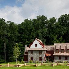 Farmhouse Exterior by Custom Home Group