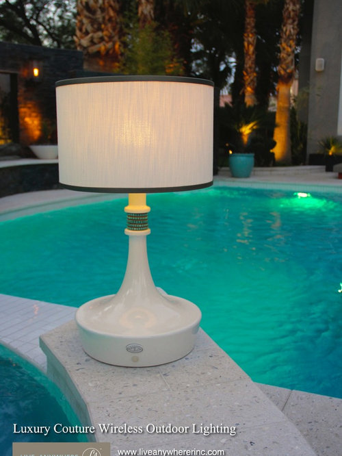 live anywhere luxury outdoor modern wireless table and floor lamps. Black Bedroom Furniture Sets. Home Design Ideas