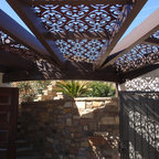 Outdoor Seating Area Arbor Structure