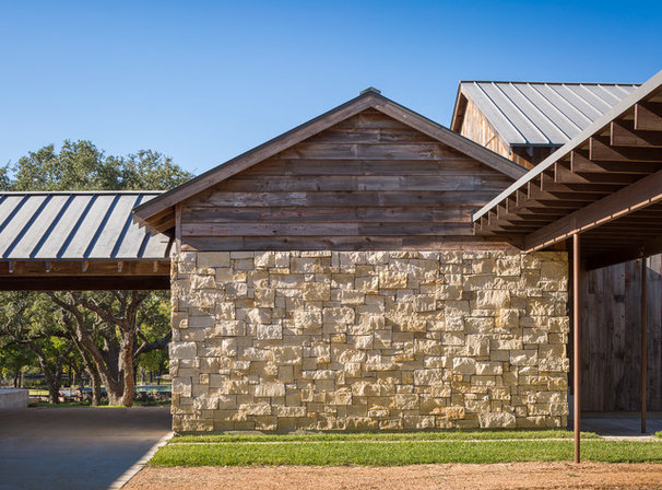 Rustic Exterior by Cornerstone Architects