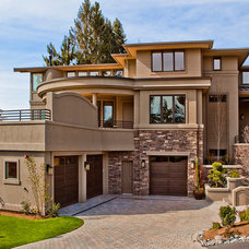 Contemporary Exterior by Lochwood-Lozier Custom Homes